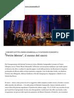 Recensione Petite Messe 31 agosto 2019_cesare galla