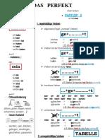 Das Perfekt Handout Arbeitsblatter Grammatikerklarungen 95455