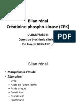 Bilan Rénal Et CPK