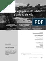 Acceso a equipamiento urbano y calidad de vida