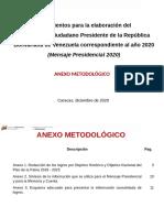 Anexo metodológico Mensaje Presidencial 2020