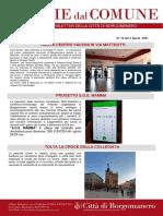 Notizie Dal Comune di Borgomanero del 2-04-2021