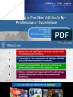 Cultivating a Positive Attitude for Professional Excellence