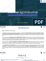 Monitor Agroindustrial. Abril-2021.