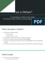 Lesson 1 Debate