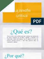 La Reseña Crítica-PPT