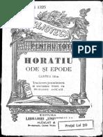Horatiu, Ode Și Epode, Cartea 3 [Tr. Juxtaliniară Și Tr. Liberă de Profesorii Asociați]