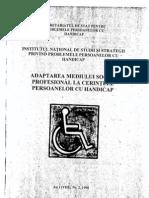 Adaptarea mediului socioprofesional la cerintele persoanelor cu handicap