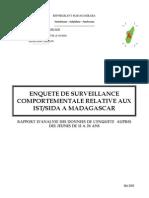 Enquête de survéillance comportementale relative aux IST/SIDA à Madagascar - Rapport d'analyse des données de l'enquête auprès des jeunes de 15 à 24 ans (INSTAT - 2005)