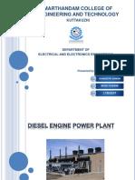 diesel engine power plant