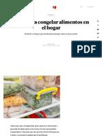 5 tips para congelar alimentos en el hogar - MDZ Online