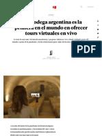 Una bodega argentina es la primera en el mundo en ofrecer tours virtuales en vivo - MDZ Online