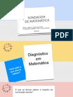SONDAGEM DE MATEMÁTICA NA EDUCAÇÃO INFANTIL