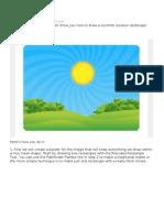 Illustrating a Summer Field Landscape