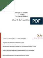 Clase 3 - Pricing de Créditos