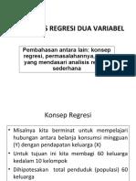 Analisis Regresi Dua Variabel