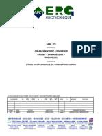Etude ERG Rapport G2 - Jardins de La Madeleine - Fréjus 23 04 13