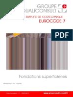 Guide Simplifié de Géotechnique Eurocode 7 Fondations Superficielles
