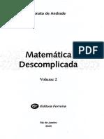 Nonato de Andrade - Matemática Descomplicada - Voluma 2 - Ano 2009