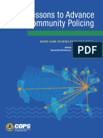Lessons to Advance Community Policing