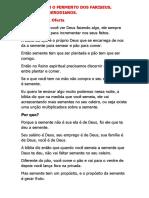 CUIDADO COM O FERMENTO DOS FARISEUS