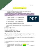 Acordul subiectului cu  predicatulClasa  a  V