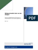 Detecon Opinion Paper Maßgeschneidert oder von der Stange? Grenzen und Möglichkeiten des Einsatzes von Standardsoftware in der Versicherungsbranche