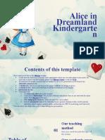 Alice in Dreamland Kindergarten by Slidesgo