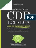 Sumario Livro ComoInvestir CDB