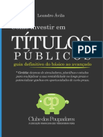 Sumario Livro ComoInvestir TitulosPublicos
