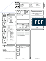 Character Sheet Lightning Herald