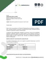 Carta del Alcalde Pumarejo al Ministro de Salud sobre vacunación a +65 años