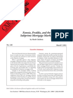 Fannie, Freddie, and the Subprime Mortgage Market, Cato Briefing Paper No. 120