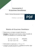 1 y 2. Ecuaciones Simultáneas Parte I y II