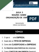 Aula 5- NOções Sobre Organização de Empresas