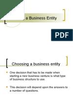 Choosing a Business Entity (2)