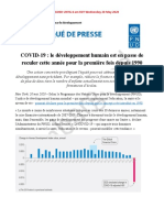 FR PR Human Development on Course to Decline for the First Time since 1990