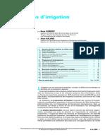 Programmes d'irrigation