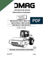 Manuel Opérateur Compacteur Simple-bille Bomag BW 216 D-3 Fr