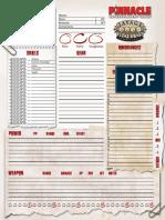 SWADE Character Sheet