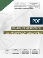 MEV-02 MANUAL DE GESTIÓN DE LA INFORMACIÓN GEOGRAFICA V0