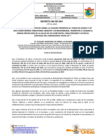 DECRETO N° 084 DE 2021 (05 de abril)