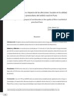 Mamani Cori y Padilla Cáceres - 2016 - Riesgo estomatológico e impacto de las afecciones