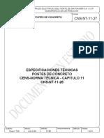 CNS-NT-11-27 Postes de concreto