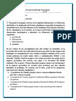 EVALUACIÓN DE SOCIALES 2