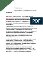 UNIDAD 4 PSICOFARMACOLOGIA