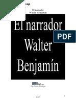 El narrador Walter Benjamín