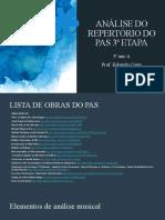 [10-02] Análise musical do repertório do PAS