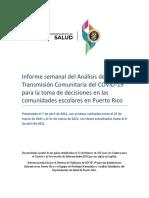 Informe Semanal Del Analisis de Transmision Comunitaria (7 Abr 2021)