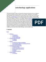 List of nanotechnology applications